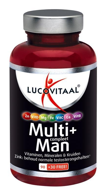Lucovitaal Multi+ compleet man (120 tabletten)