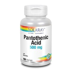 Solaray Vitamine B5 pantotheenzuur 500 mg (100 vcaps)