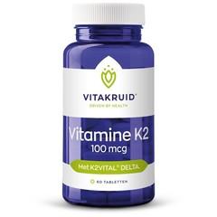 Vitakruid Vitamine K2 100 mcg (60 tabletten)