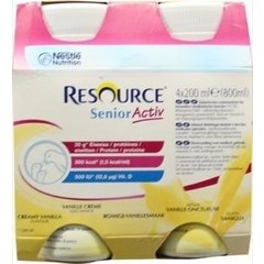 Resource Senioractiv vanillle 200 ml (4 stuks)