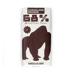 Chocolatemakers Gorilla bar 68% puur bio (85 gram)