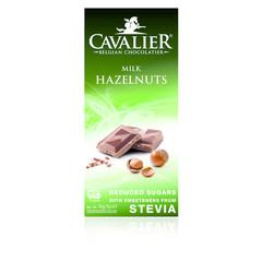 Cavalier Chocolade milk/hazelnut gezoet met stevia (85 gram)