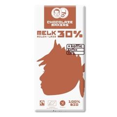 Chocolatemakers Awajun 30% met koffie bio fairtrade bio (85 gram)