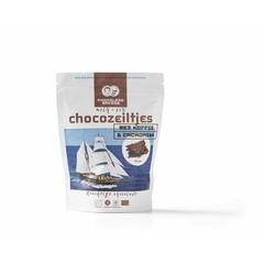 Chocolatemakers Chocozeiltjes donkere melk 52% koffie & nibs bio (100 gram)