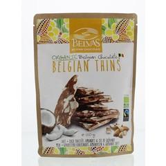 Belvas Thins melk kokos amandel bio (120 gram)