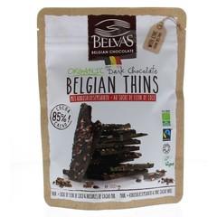 Belvas Thins dark 85% met kokosbloesemsuiker bio (120 gram)