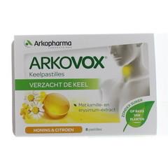 Arkovox Honing citroen keelpastilles (8 pastilles)