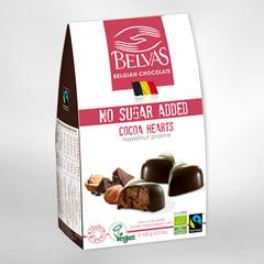 Belvas Choco hart hazelnoot praline bio (100 gram)