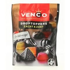 Venco Droptoppers zacht zoet (210 gram)
