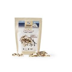 Chocolatemakers Bio chocozeiltjes wit vanille met cacaonibs bio (100 gram)
