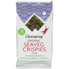 Clearspring Seaveg crispies chilli bio (4 gram)