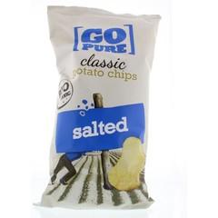 Go Pure Chips naturel gezouten bio (125 gram)