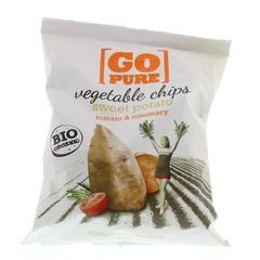 Go Pure Chips sweet potato tomato & rosemary bio (80 gram)