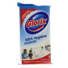 Glorix Hygienische doekjes normaal navul (30 stuks)