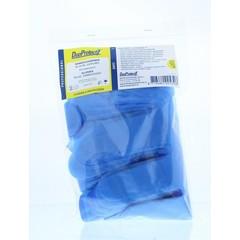Duoprotect Wegwerphandschoenen ruw blauw (50 stuks)