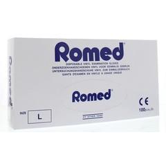 Romed Vinyl handschoen niet steriel gepoederd L (100 stuks)