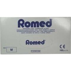 Romed Vinyl handschoen niet steriel gepoederd M (100 stuks)