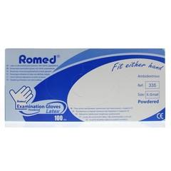 Romed Latex handschoen niet steriel gepoederd XS (100 stuks)