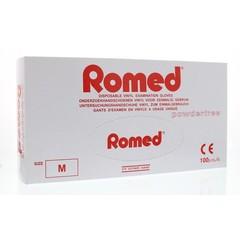 Romed Vinyl handschoen niet steriel poedervrij M (100 stuks)