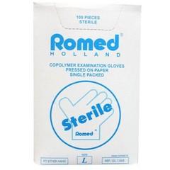Romed Onderzoekhandschoen steriel copolymeer L (100 stuks)