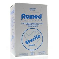 Romed Onderzoekhandschoen steriel copolymeer M (100 stuks)