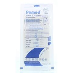 Romed Operatiehandschoen steriel gepoederd 8 (1 paar)