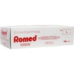 Romed Vinyl handschoen niet steriel poedervrij L (100 stuks)