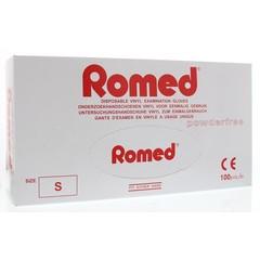Romed Vinyl handschoen niet steriel poedervrij S (100 stuks)
