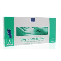 Abena Handschoenen vinyl blauw poedervrij maat S (100 stuks)