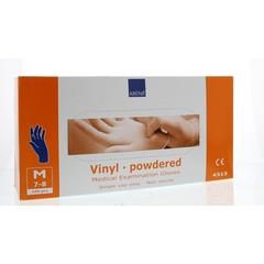 Abena Handschoen vinyl poeder blauw M (100 stuks)