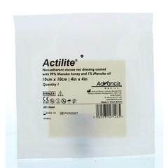 Advancis Actilite manuka non adhesive 10 x 10 (1 stuks)