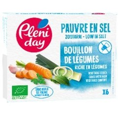 Pleniday Groentebouillon zoutarm bio (54 gram)