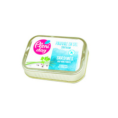 Pleniday Sardines naturel zoutarm (115 gram)