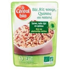 Cereal Bio Tarwe, rode rijst en quinoa bio (220 gram)