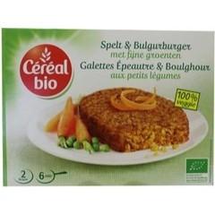 Cereal Bio Spelt & bulgur burger met fijne groenten bio (200 gram)