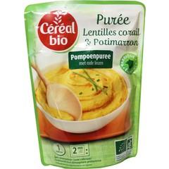 Cereal Bio Puree linzen / pompoen bio (250 gram)