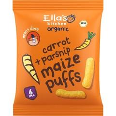 Ella's Kitchen Maize puffs carrot/parsnip 6+ maanden bio (20 gram)