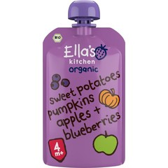 Ella's Kitchen Sweet potato pumpkin apple blueberrry 4+ mnd bio (120 gram)