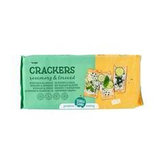 Terrasana Crackers rozemarijn & lijnzaad bio (250 gram)