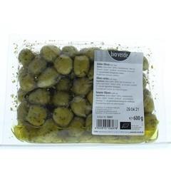 Bioverde Olijven groen pitloos bio (600 gram)