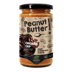 Natures Finest Pindakaas chocolate chip bio (350 gram)