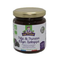 Lou Prunel Pruimenjam zonder toegevoegd suiker bio (225 gram)
