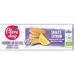 Pleniday Zandkoekjes met citroen suikerarm bio (105 gram)