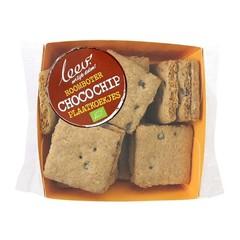 Leev Roomboter plaatkoekjes chocolate chip bio (100 gram)