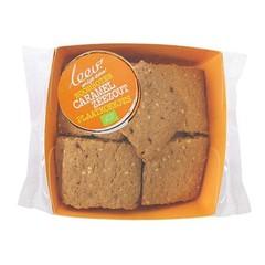 Leev Roomboter plaatkoekjes caramel zeezout bio (100 gram)