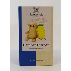 Sonnentor Gember citroen thee bio (18 zakjes)