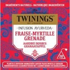Twinings Ayurveda aardbei bosbes granaatappel (20 zakjes)