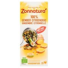 Zonnatura Gember citroengras thee bio (20 zakjes)