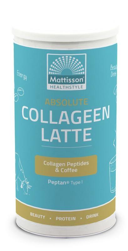 Mattisson Absolute collageen & latte instant coffee drink (180 gram)
