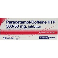 Healthypharm Paracetamol 500 mg coffeine (40 tabletten)